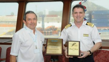 DELIVERY OF PLATE TO MV PEARL MIST AT SPRC